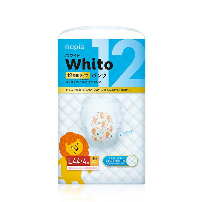 【ケース販売】nepia WhitoパンツLサイズ12時間タイプ44+4枚